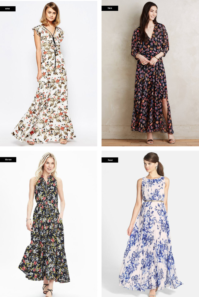 1. Asos, $89 / 2. Anthropologie, $158 / 3. Banana Republic, $158 / 4. Nordstrom, $158