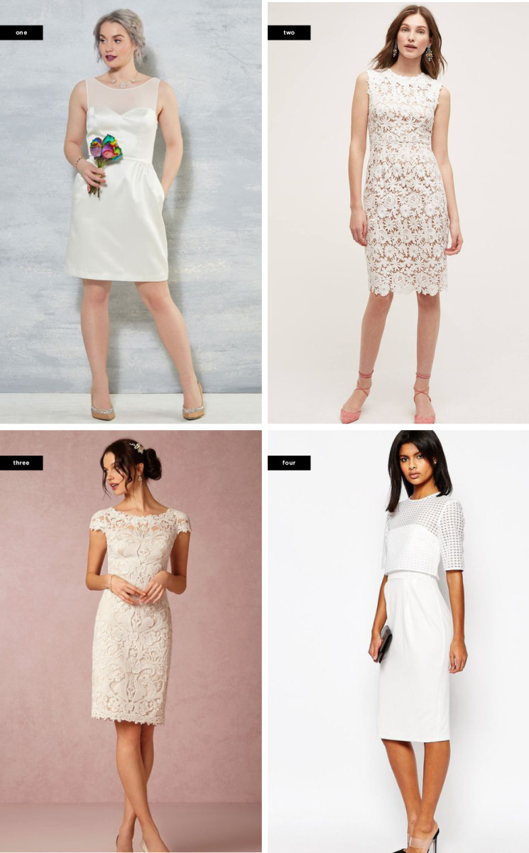 1. ModCloth, $175 / 2. Anthropologie, $253 / 3. BHLDN, $440 / 4. Asos, $72