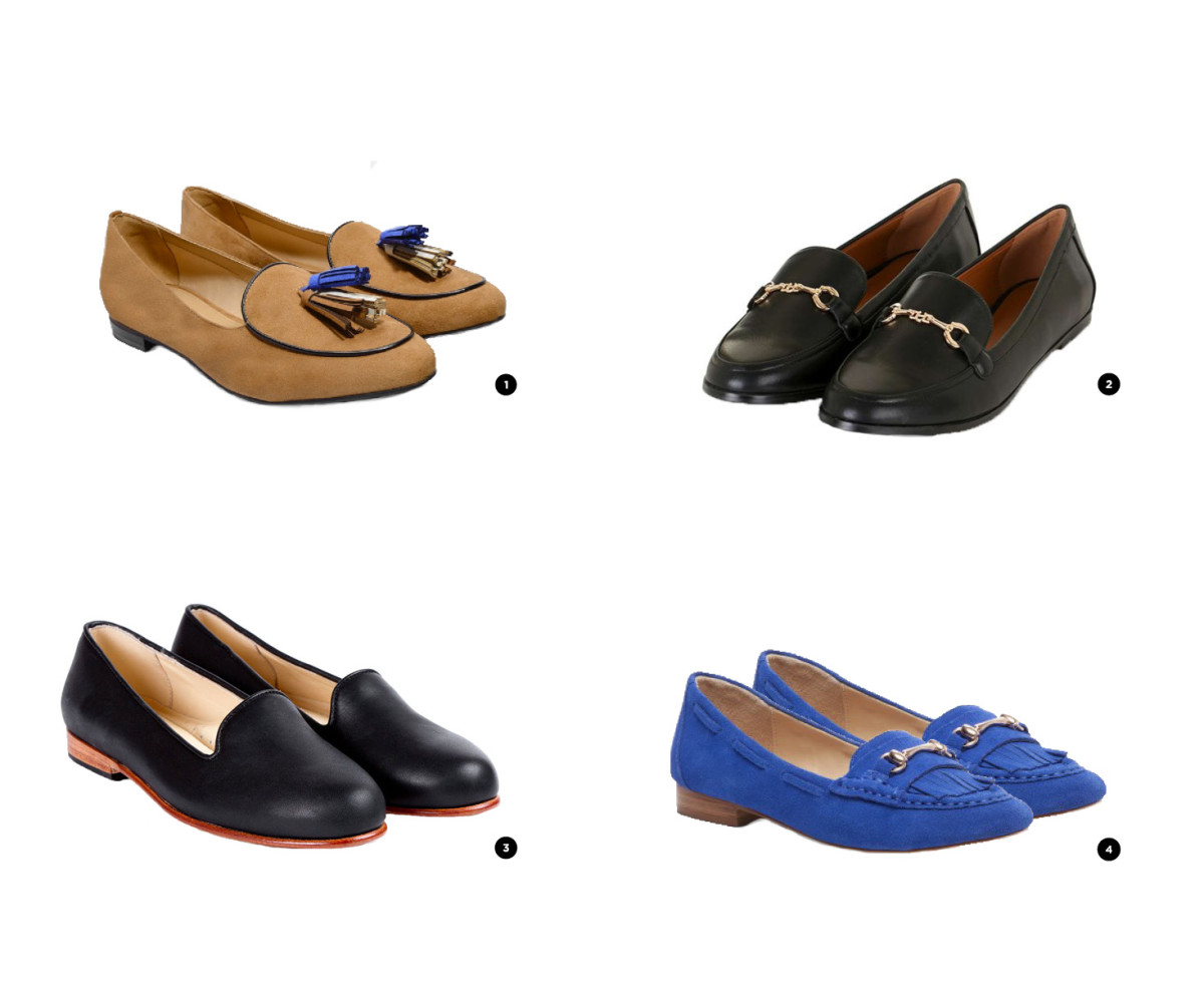 1. Charles & Keith, $ 54 / 2. Top Shop, $48 / 3. Nisolo, $148 / 5. Sole Society, $53