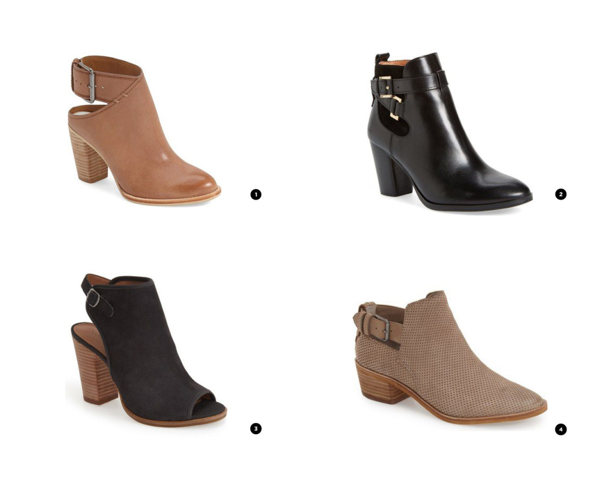 1. Dolce Vita, $153 / 2. Louise et Cie, $96 / 3. Lucky Brand, $109 / 5. Dolce Vita, $130