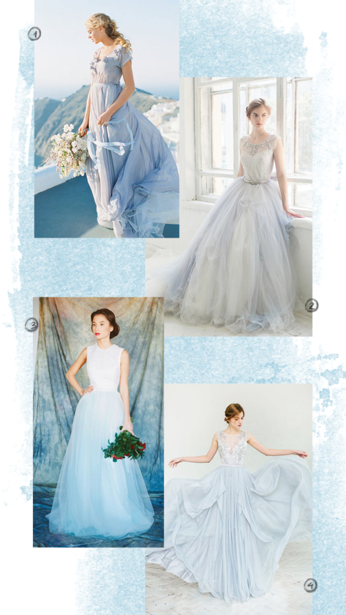 1. Cathy Telle, $1,050 / 2. Carousel Fashion, $1,650 / 3. Milamira Bridal, $680 / 4. Carousel Fashion, $1,095