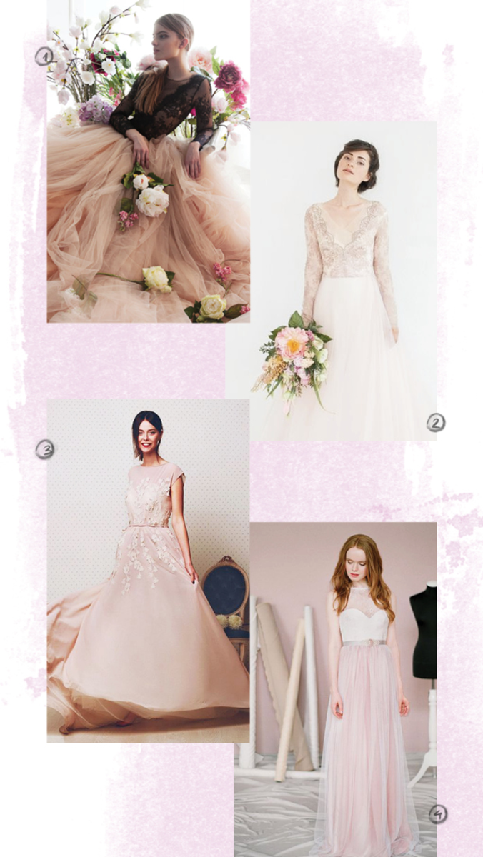 1. Carousel Fashion, $1,250 / 2. Carousel Fashion, $1,350 / 3. Cathy Telle, $1,750 / 4. Milamira Bridal, $590