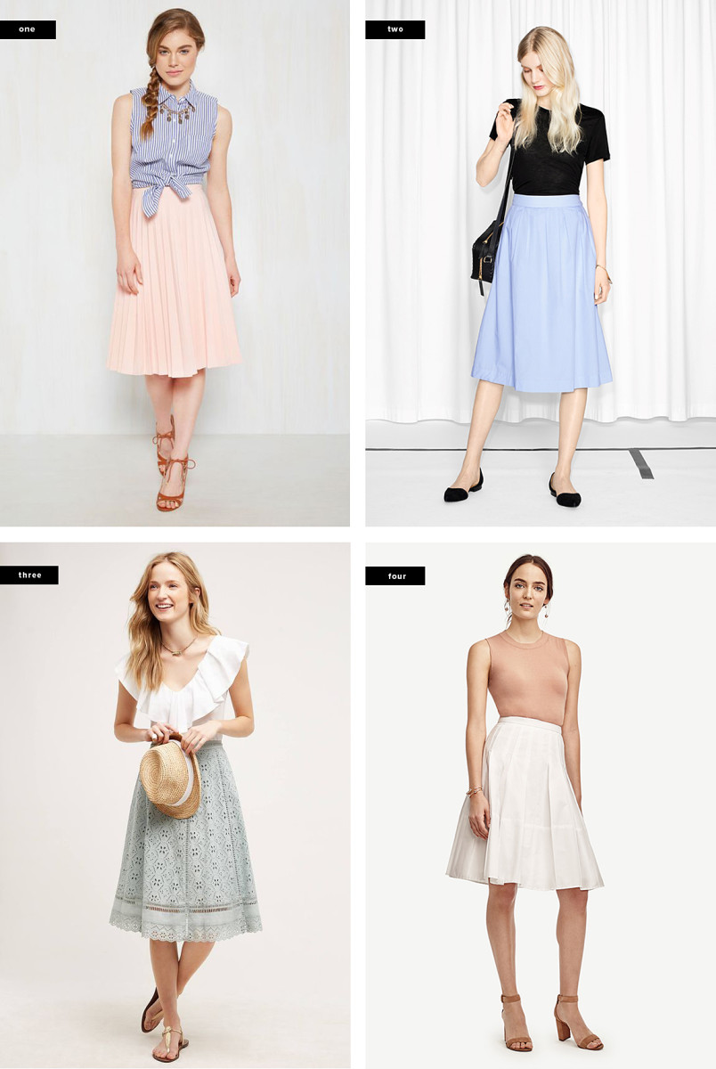 1. ModCloth, $70 / 2. & Other Stories, $37 / 3. Anthropologie, $198 / 4. Ann Taylor, $85