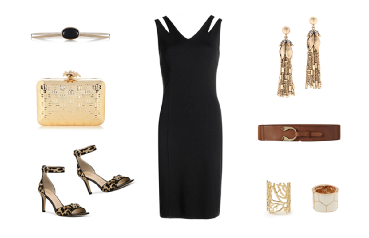 how to accessorize a black dress