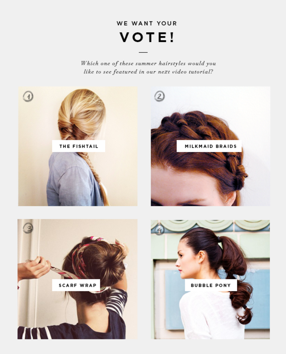 4 Easy Summer Updos & Vote For a Video Tutorial - Verily