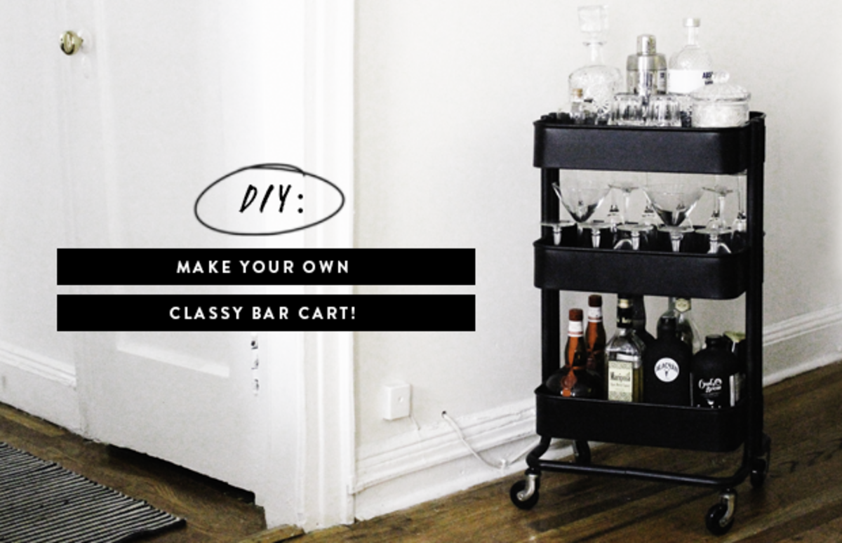 Make Your Own Classy Bar Cart With This Easy Diy Verily
