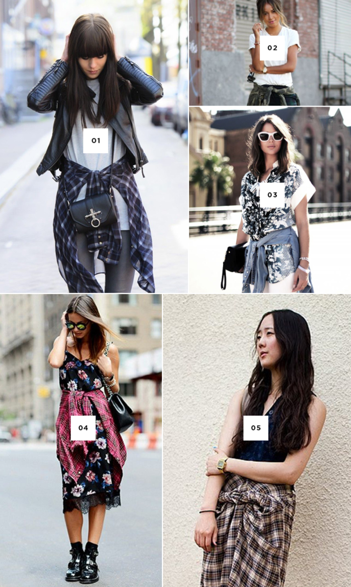 be01b711f91ab Effortlessly Cool Ways to Style the Shirt Tied Around the Waist Trend