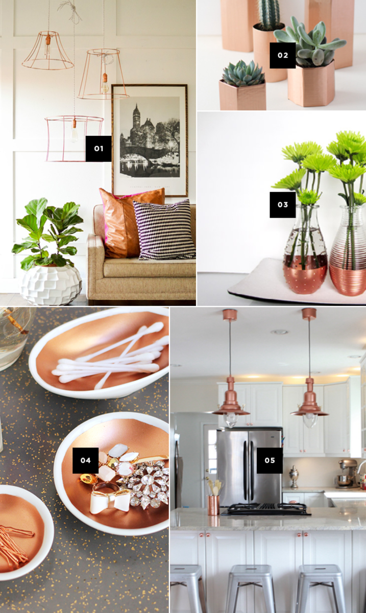 diy ways to add copper accents to your home and a giveaway verily