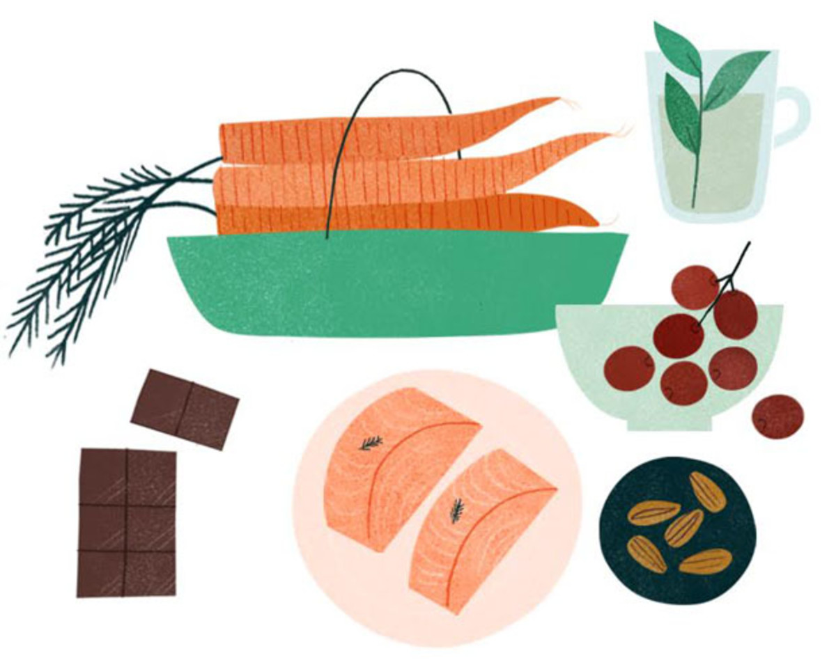 healthy foods, healthy skin