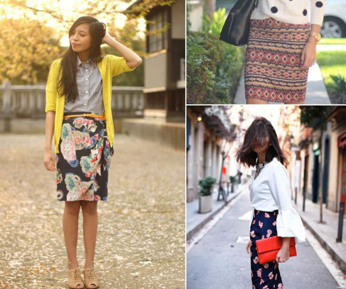 patterned-skirt