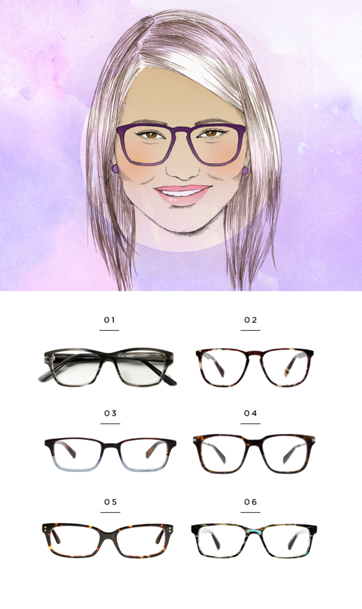 Glasses Frames Round Face Shape : The Most Flattering Glasses for Your Face Shape - Verily