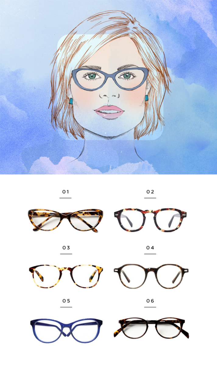 Best Glasses Frame For Square Face : The Most Flattering Glasses for Your Face Shape - Verily