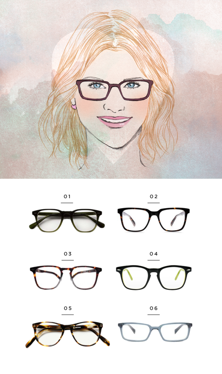 Eyeglass Frames Heart Shaped Face : The Most Flattering Glasses for Your Face Shape - Verily