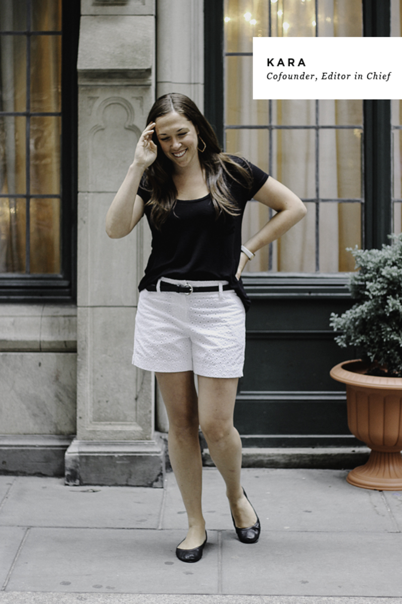 Shop Kara's look: 1. Watch, $195 / 2. T-shirt, $5 (similar) / 3. Shoes, $35 (similar) / 4. Shorts, $30 (similar) / 5. Earrings, $50 (via Rocksbox—get a free month with code verilymagxoxo)