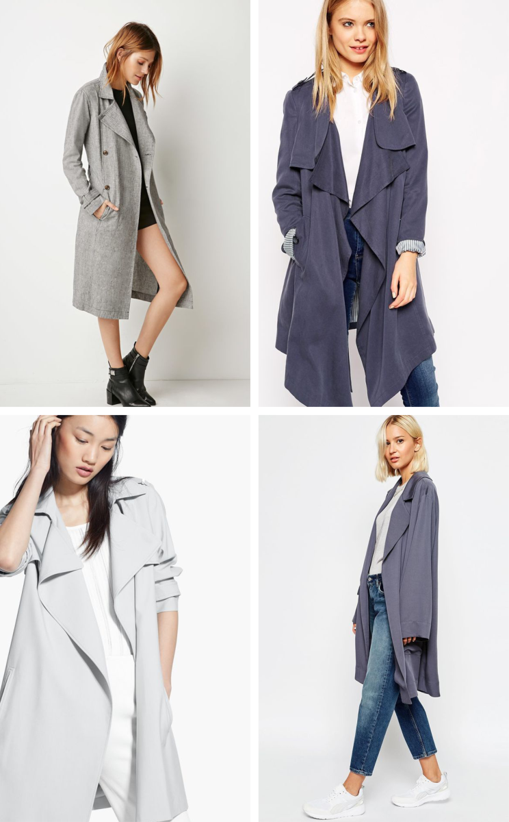 summer fall coat trends style staples lightweight trench coats