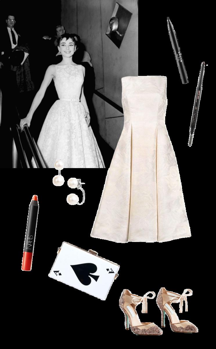 Audrey Hepburn style icon vintage retro elegant ladylike fashion style outfit inspiration