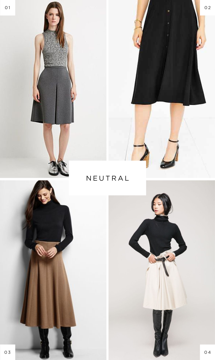 midi skirts style inspiration fall fashion floral tulle mid length A line full skirts