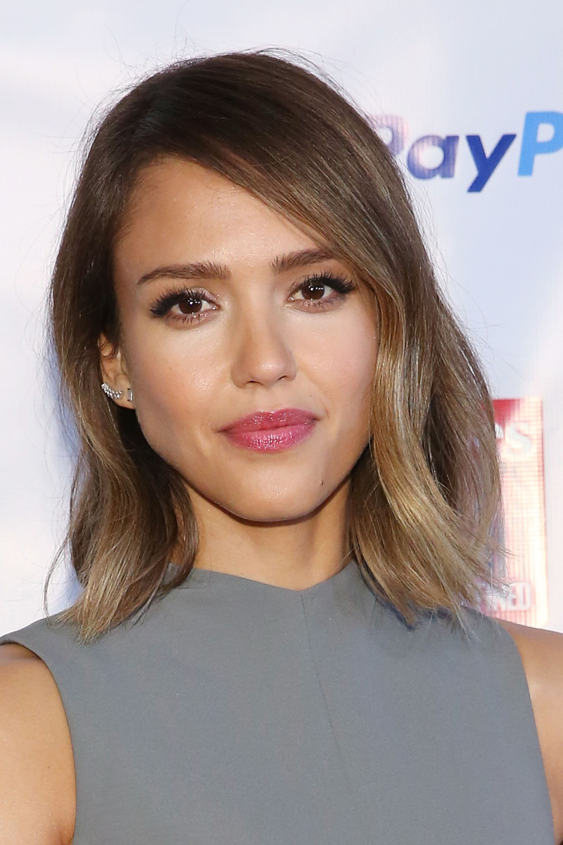 celebrity haircuts long bobs blunt bobs lobs on trend fall haircuts hair inspiration fine hair beauty style jessica alba
