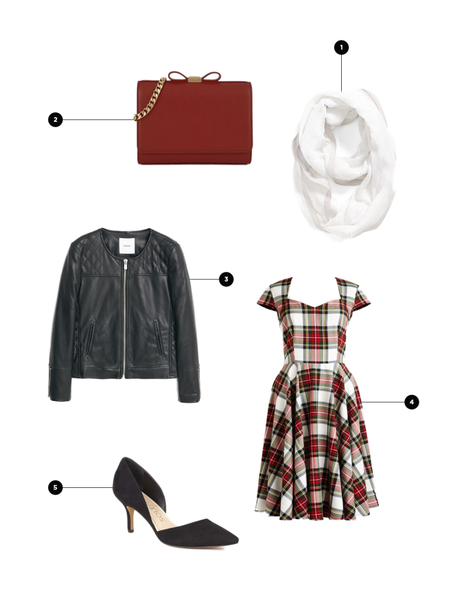 1. Nordstrom, $15 / 2. Charles & Keith, $59 / 3. Mango, $80 / 4. ModCloth, $95 / 5. Sole Society, $70