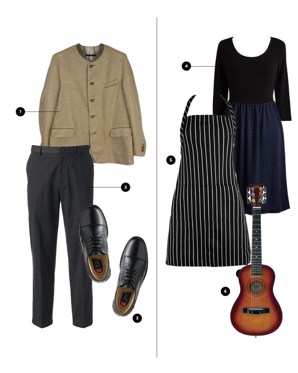 For Him: 1. KukkaRamba, $44 / 2. Kohl's, $40 / 3. Kohl's, $90 // For Her: 4. ModCloth, $70 / 5. World Market, $15 (similar) / 6. Amazon, $36