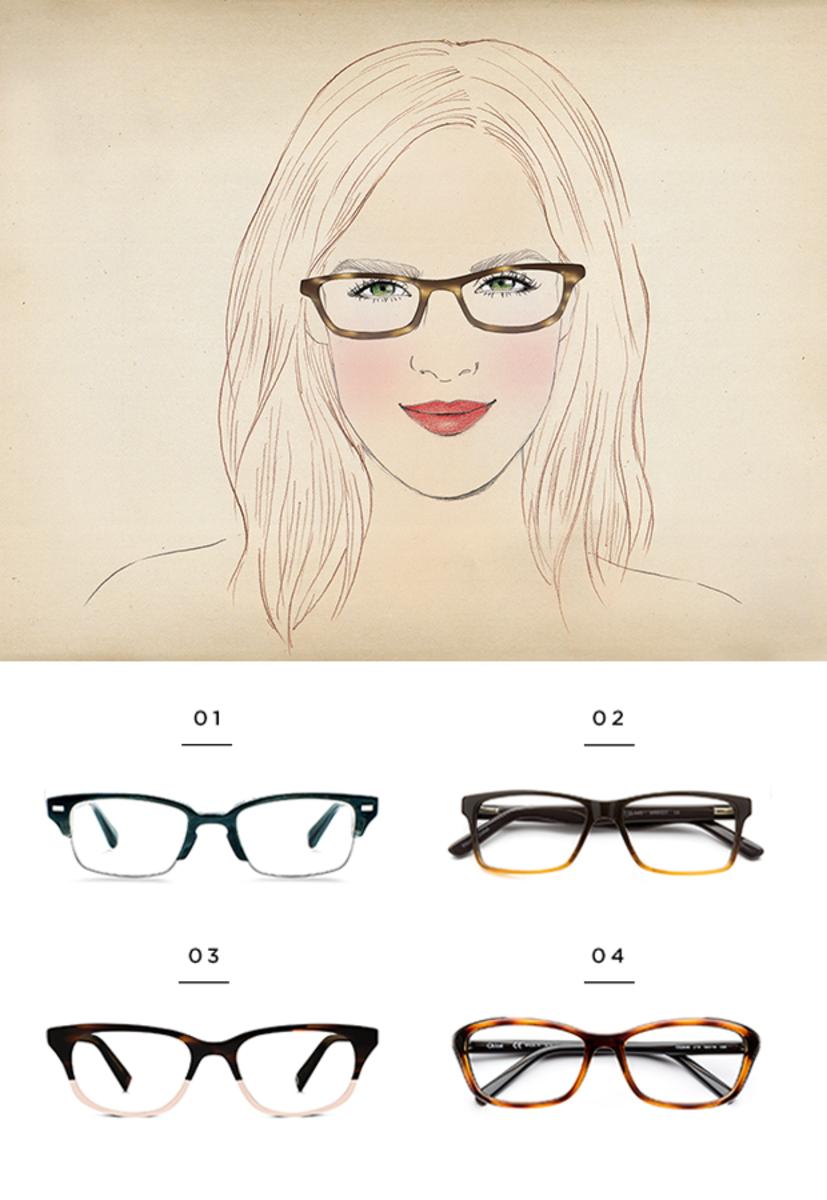 1. Warby Parker, $145 / 2. Coastal, $85 / 3. Warby Parker, $95 / 4. Coastal, $225