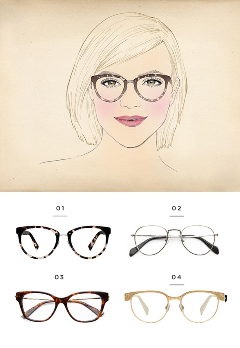 1. Warby Parker, $145 / 2. Coastal, $95 / 3. Coastal, $95 / 4. Warby Parker, $145