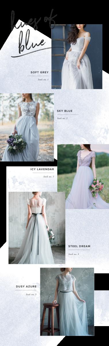 1. Boudoir Vintage, $470 / 2. Mywony Bridal, $795 / 3. Mywony Bridal, $1,250 / 4. Milamira Bridal, $590 / 5. LiBrightWedding, $710