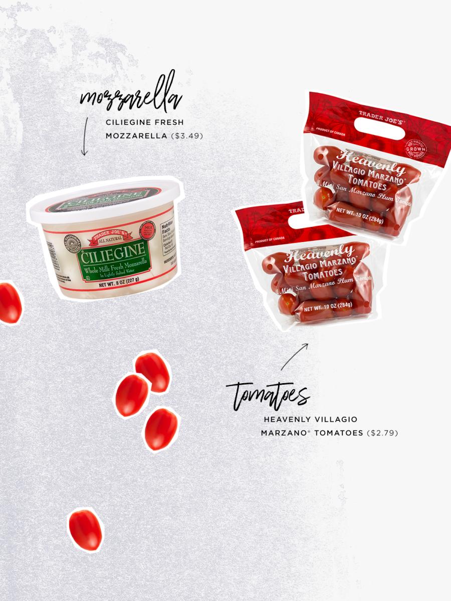Ciliegine Fresh Mozzarella ($3.49) / Heavenly Villagio Marzano® Tomatoes ($2.79)