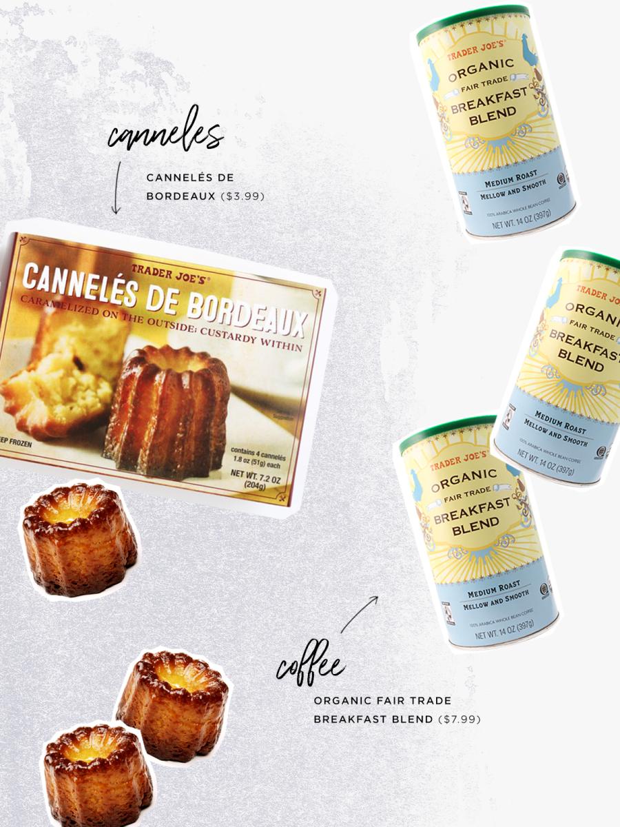 Cannelés de Bordeaux ($3.99) / Organic Fair Trade Breakfast Blend ($7.99)