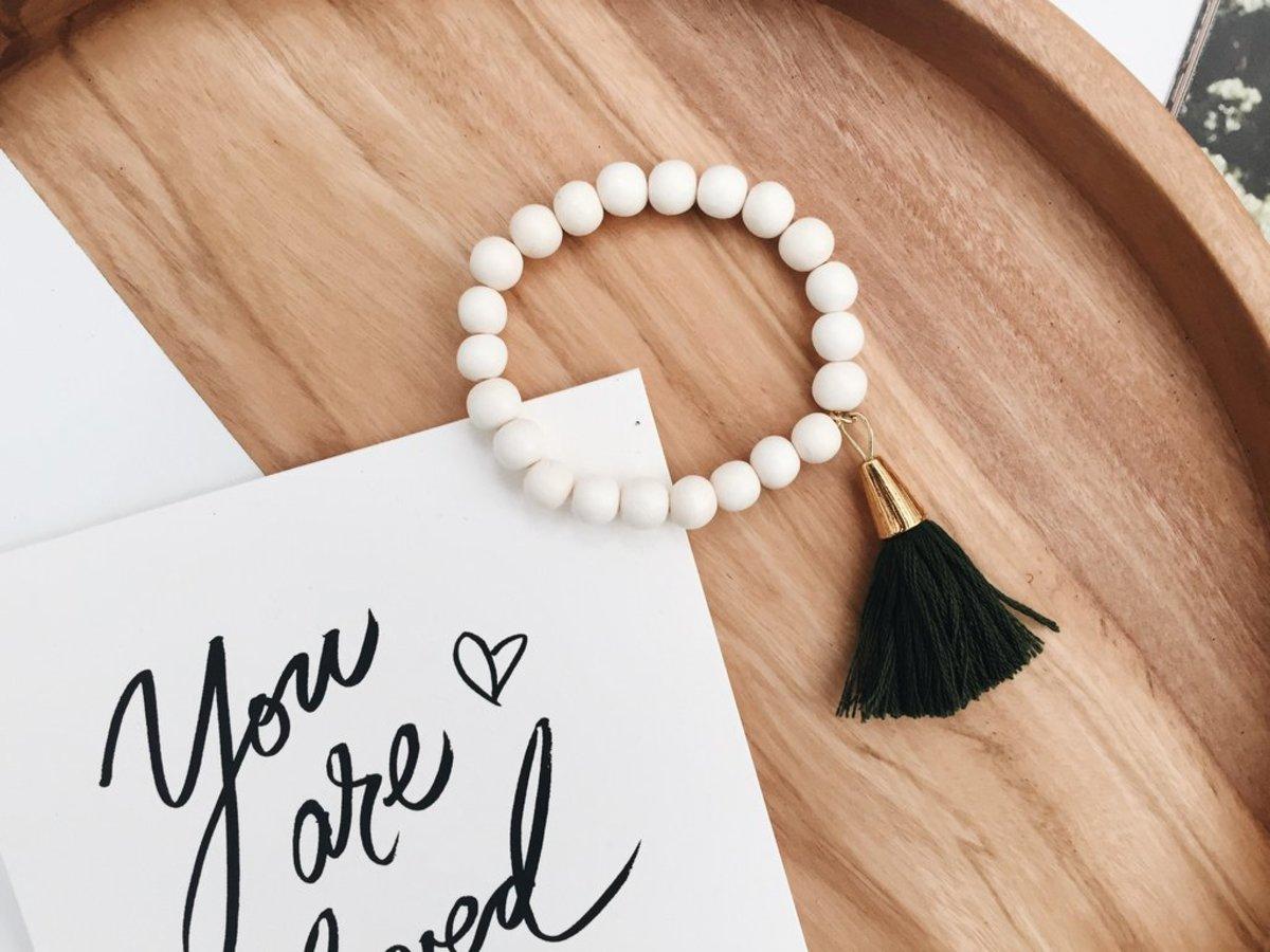 Hattie Tassel Bracelet,$40