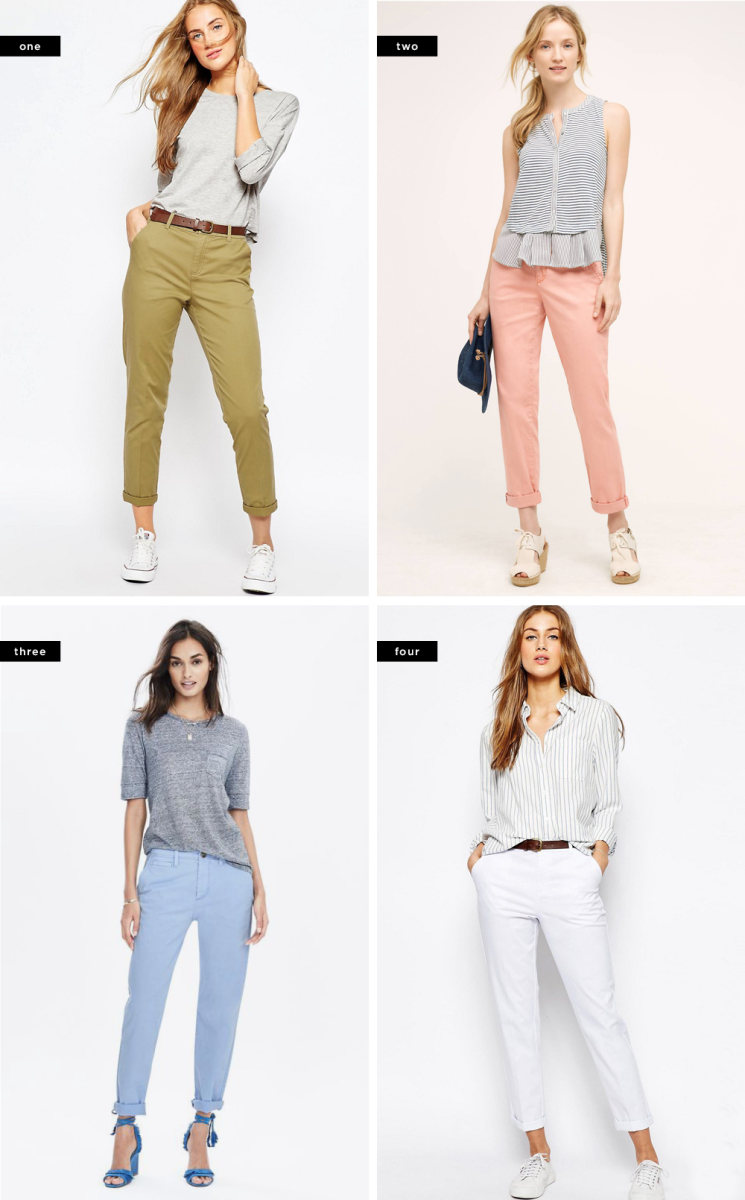 1. ASOS, $32 / 2. Anthropologie, $50 / 3. Banana Republic, $78 / 4. ASOS, $46