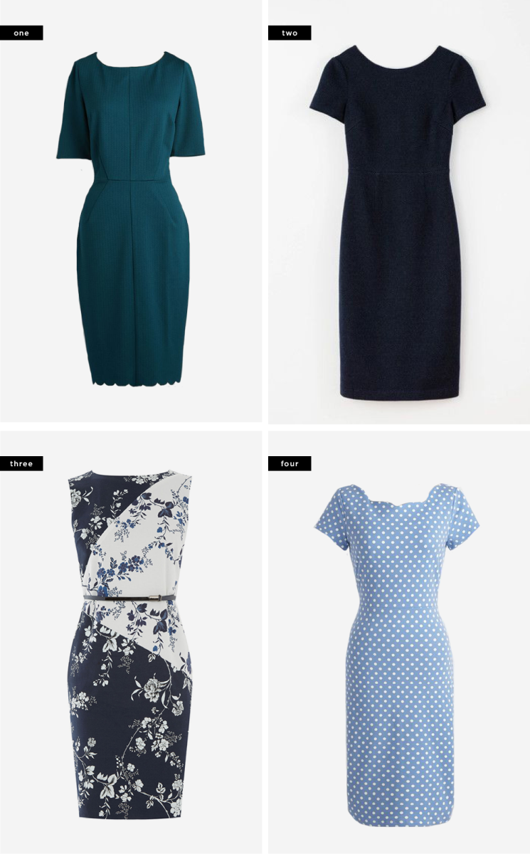 1. ModCloth, $80 / 2. Boden, $148 / 3. Oasis, $84 / 4. ModCloth, $80