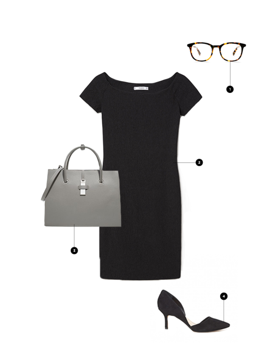 1. Warby Parker, $95 / 2. Mango, $50 /3. Charles & Keith, $59 (similar) / 4. Sole Society, $80