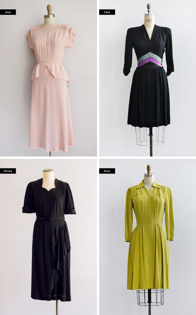 1. Simplicity Is Bliss, $185 / 2. Adored Vintage, $168 / 3. Hungry Heart Vintage, $158 / 4. Adored Vintage, $128