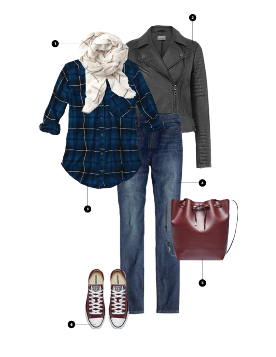 1. Old Navy, $23 / 2.  Oasis, $210 / 3. Abercrombie & Fitch, $29 / 4. Madewell, $90 / 5. Sole Society, $60 / 6. Converse, $50