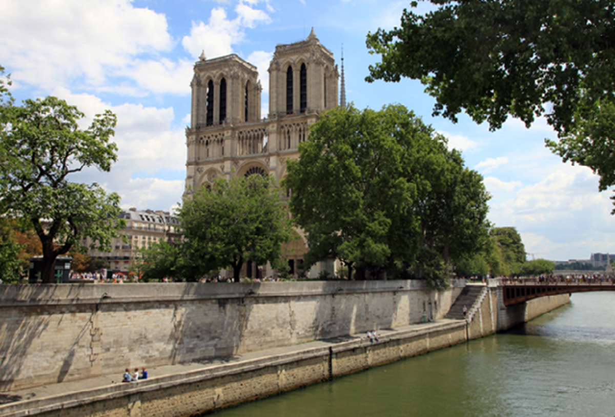 View of glorious Notre Dame from Hotel Saint-Louis en l'Isle