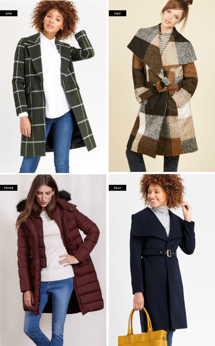 1. Oasis, $190/ 2. ModCloth, $140/ 3. Boden, $230/ 4. Oasis, $170