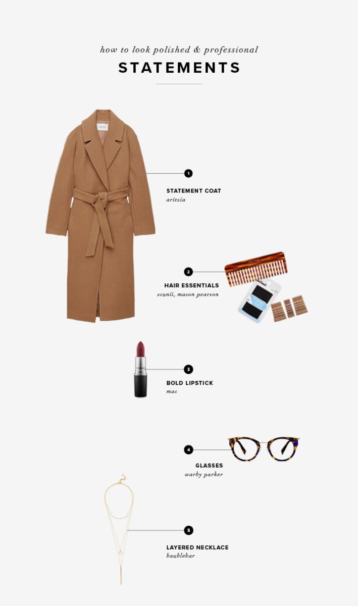 1. Aritzia, $475/ 2. Mason Pearson, $35;Ulta, $4/ 3. Mac, $17/4. Warby Parker, $95 / 5.BaubleBar, $42