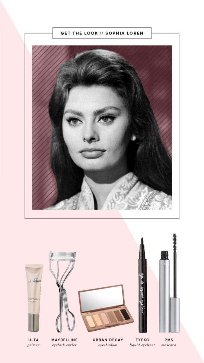 how to do a cat eye, cat eye makeup tutorial, Sophia Loren