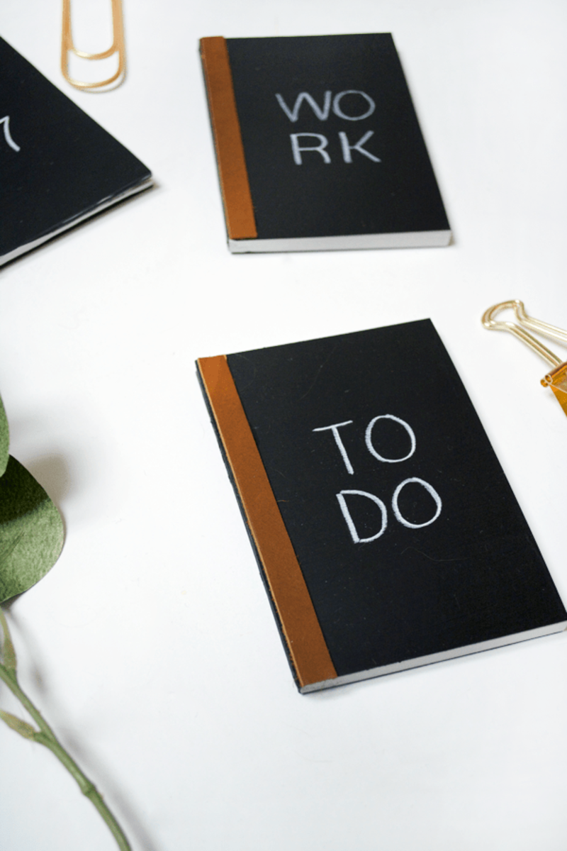 Bre Purposed DIY Mini Chalkboard Notebooks