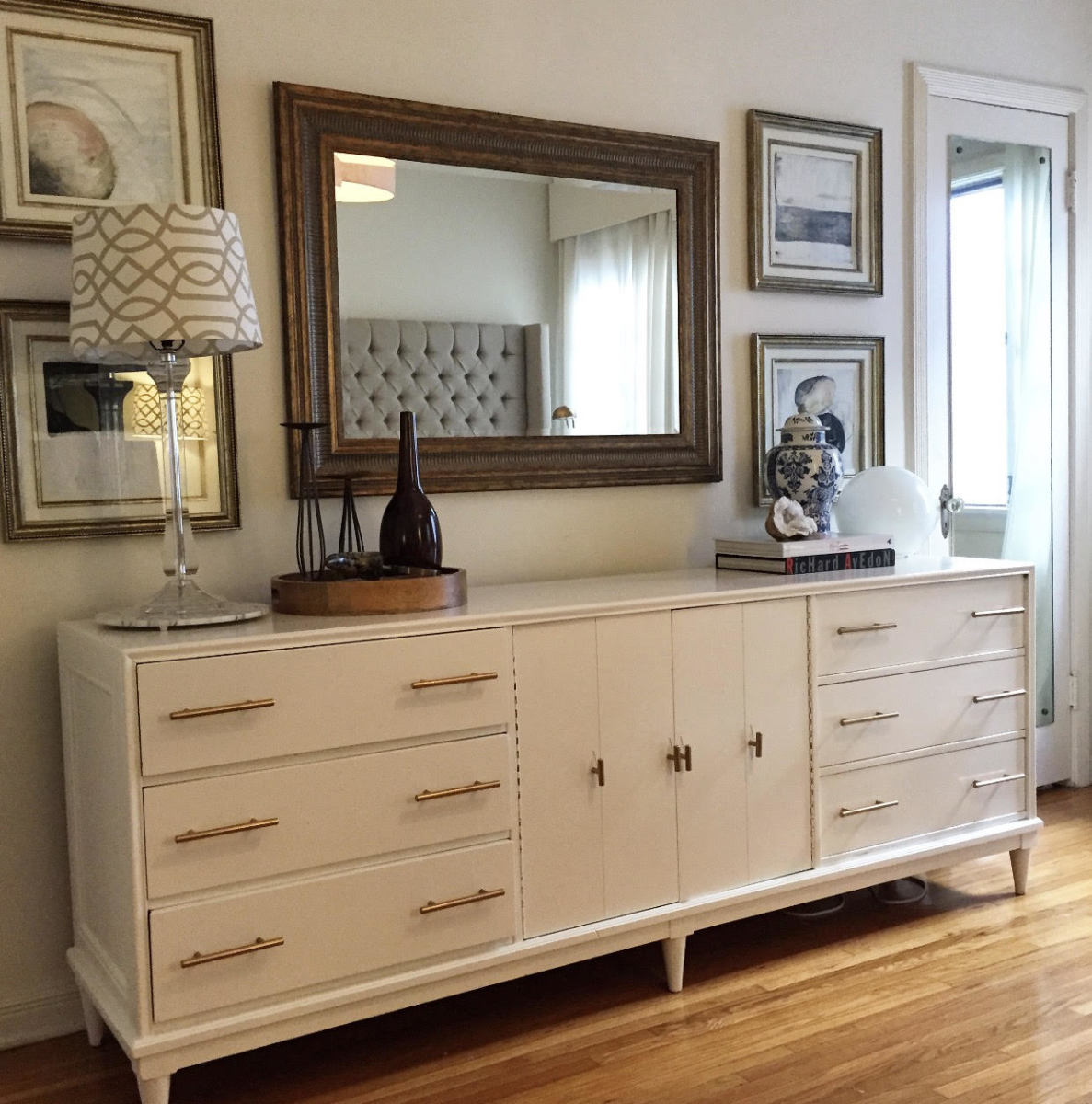 Shana Wardle's dresser with a fresh coat of paint and updated hardware