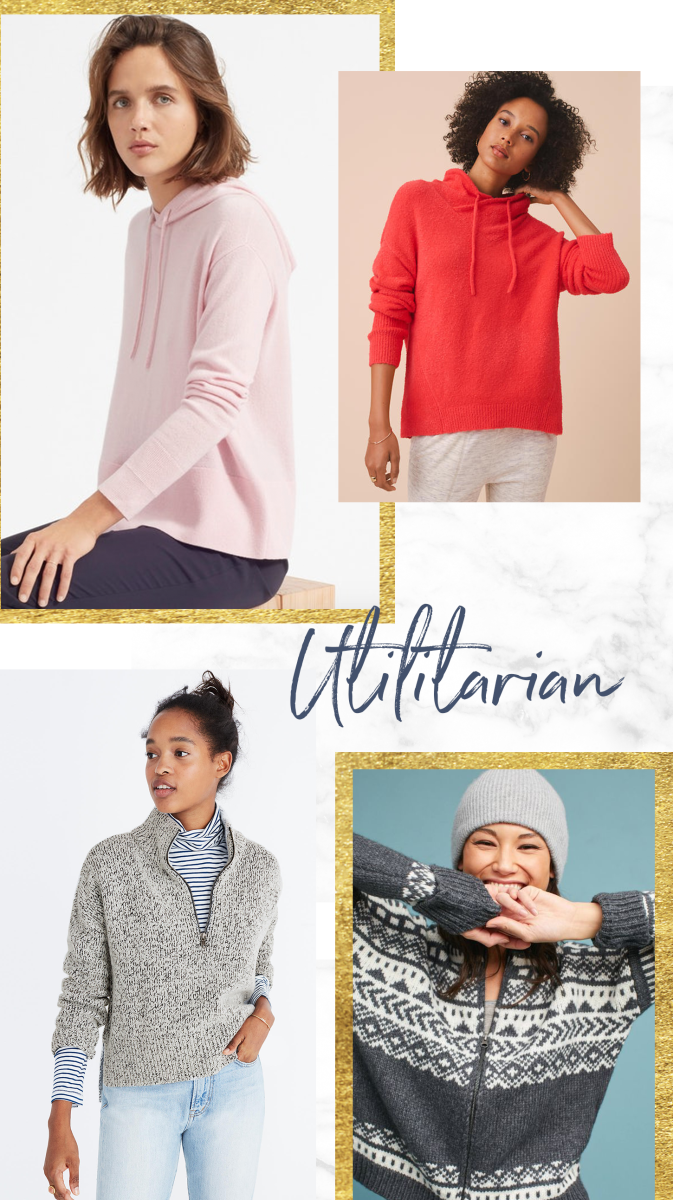 1. Everlane, $140 / 2. Loft, $65 / 3. Madewell, $110 / 4. Anthropologie, $298