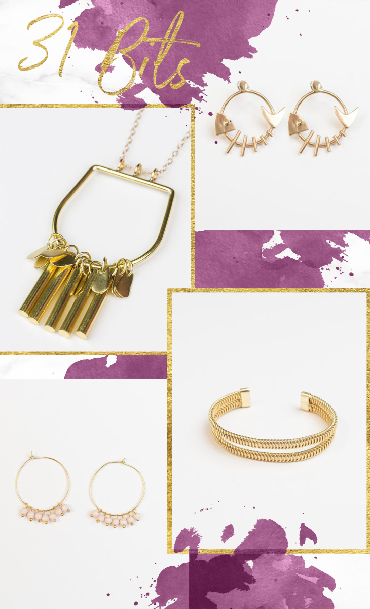 1. Fish Bone Earrings, $38 / 2. Necklace, $56 / 3. Bracelet, $44 / 4. Earrings, $28 // Prices shown do not include discount