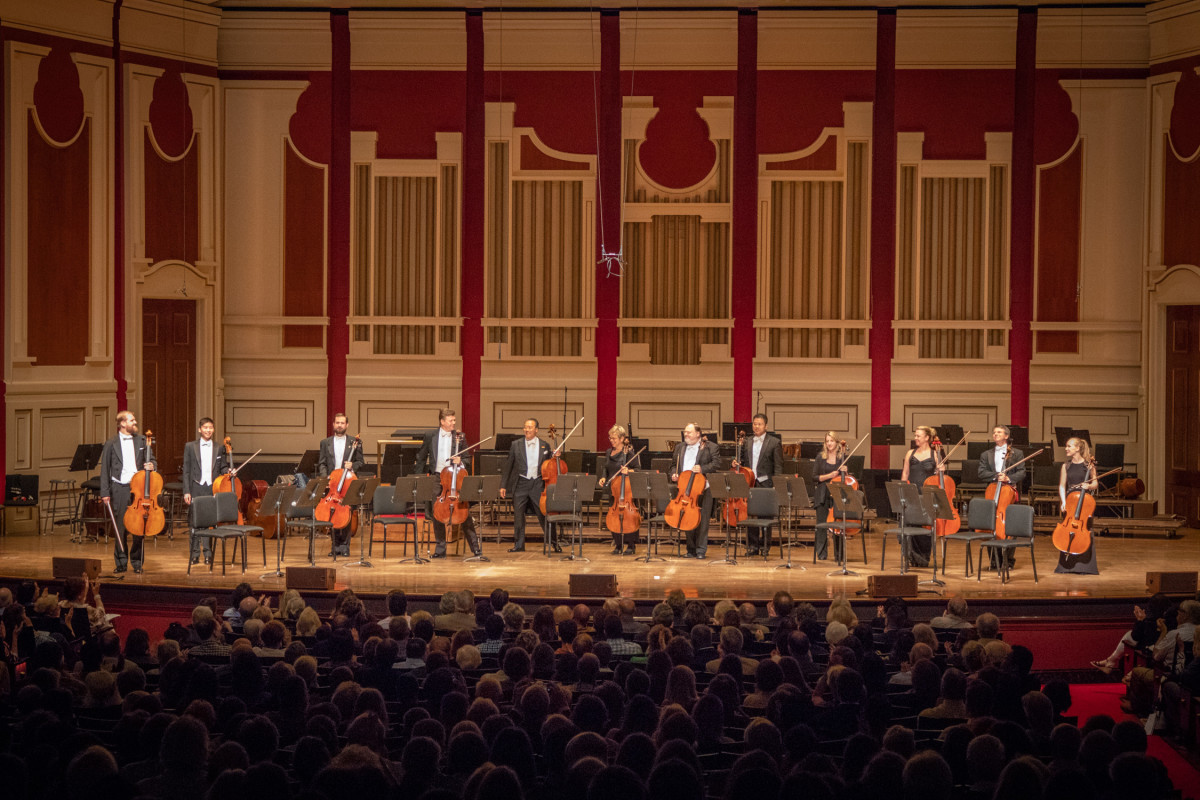 A concert with Yo-Yo Ma and the PSO cello section.