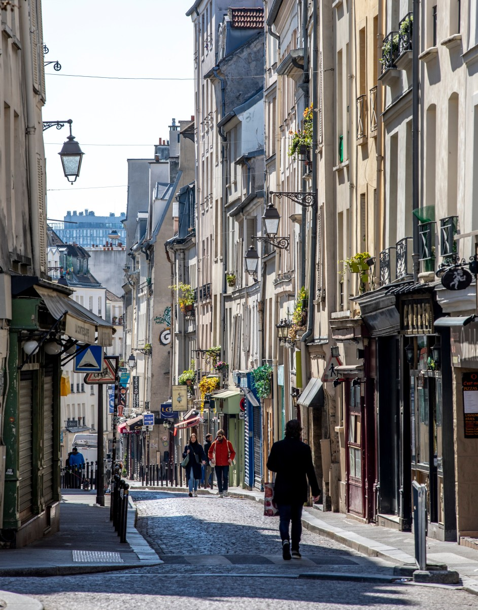 Rue Mouffetard, one of the oldest streets in Paris