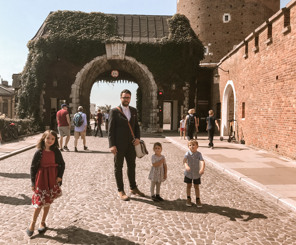At the Wawel Castle in Krakow, Poland