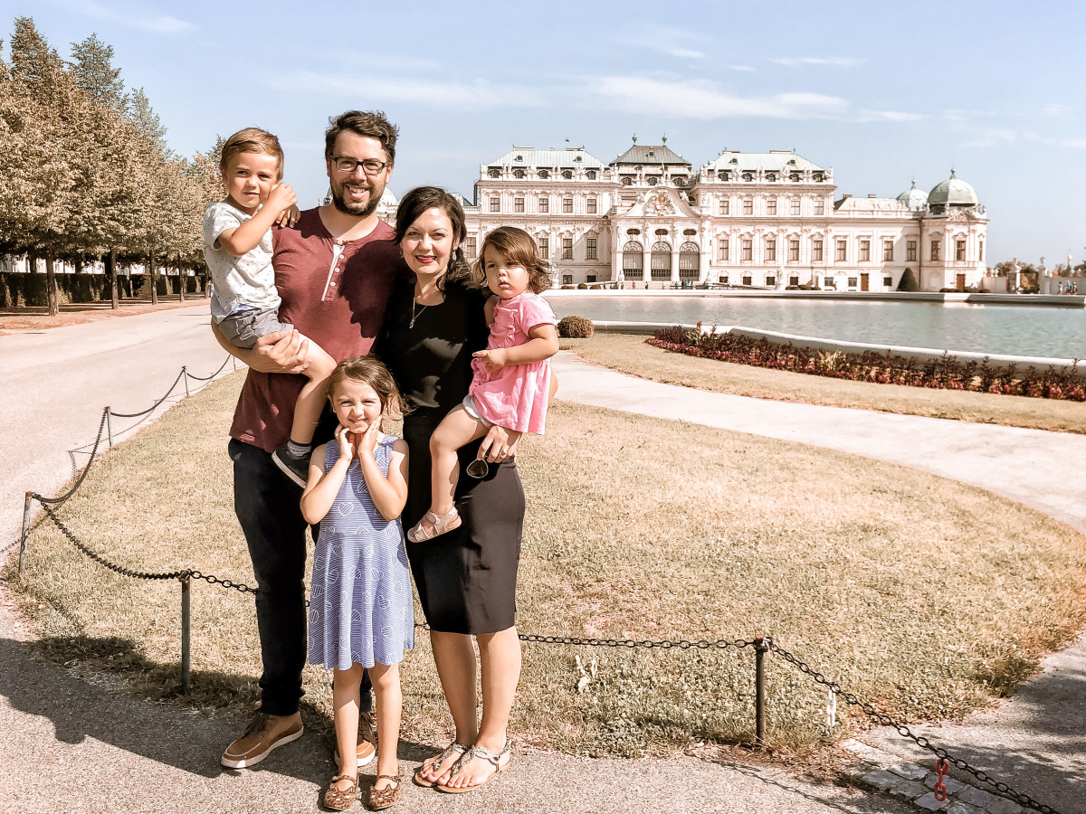 At the Belvedere Palace in Vienna