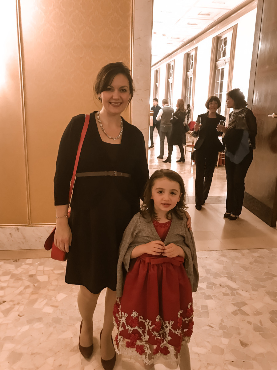 Megan at the Viennese Ballet with her daughter