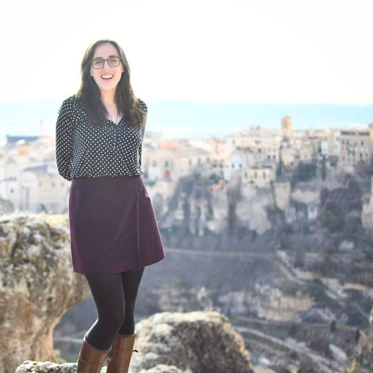 Therese visiting Cuenca, Spain.
