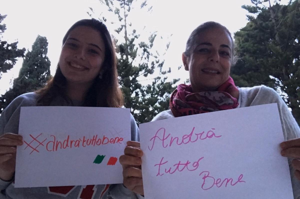Giorgia, with her mother Donatella
